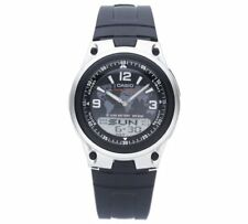 Casio Men's AW-80-1A2VEF World Time Digital/Analogue Black Strap RRP £39 WOW