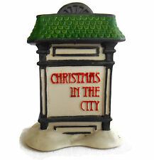 Dept 56 Village Sign Exclusive Christmas In The City # 59609 No Box