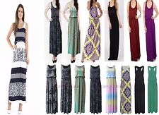 WOMENS LADIES PRINTED BUBBLE TOGA RACER BACK JERSEY VEST LONG BALLOON MAXI DRESS