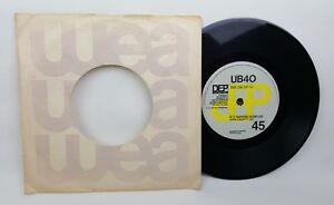 "UB40 If It Happens Again 7"" 45rpm Vintage Vinyl 1984 UK Press DEP 11 VG+/VG"