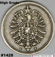 1888 F 5 Pfennig Coin Germany High Grade | British Imperial Coins #1428