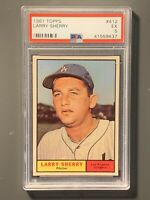 1961 Topps #412 Larry Sherry PSA 5 EX Los Angeles Dodgers