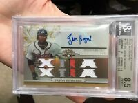 Topps Triple Threads 2014 Braves Cubs Patch Gold 3/9 BGS 8.5 Auto 10 Card