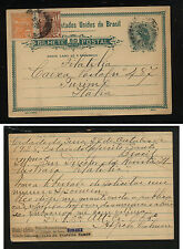 Brazil   nice uprated postal card to  Italy                          MS0820