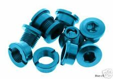 Alloy Chainring bolts (Set Of 5) BRAND NEW! (BLUE)
