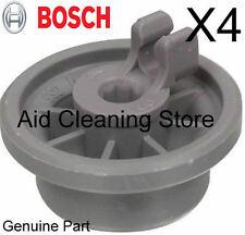 4 X BOSCH/NEFF/SIEMENS GENUINE DISHWASHER LOWER BASKET WHEELS 165314