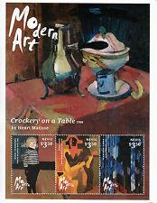 Nevis 2014 MNH Modern Art 3v M/S Paintings Henri Matisse Evenepoel Juan Gris