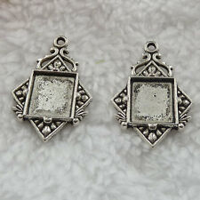 Free Ship 108 pcs tibet silver frame charms pendant 32x21mm #323