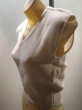 Nos Deadstock Retro Usa 1980S WhiTe Cropped V Neck KniT Sweater Tank Top DiSco S
