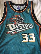 NBA Jersey - Detroit Pistons: #33 Grant Hill (Size 48) 50th Anniversary - Gold