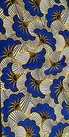 tissu wax 100/%coton fleurs de mariage noires contour doré,élégant, 1 mètre//116L