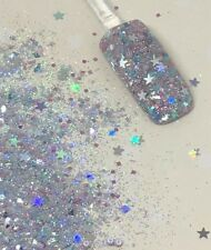 glitter mix acrylic gel nail art    SILVIA