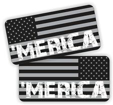 MERICA ~ Black Ops American Flags | Hard Hat Decals | AR15 Lower Helmet Stickers