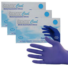 600 Nitrile Exam Gloves PF, Cool Blue by TG Medical, 200 Gloves/ Box, Size Large