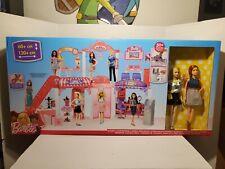 New Barbie Malibu Ave 2-Story Shopping Mall 2 Dolls Working Ecalator Hair Salon!