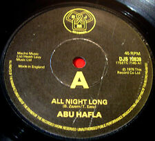 "Abu Hafla All Night Long 7"" UK ORIG 1978 DJM b/w Do You Wanna Buy A Camel? VINYL"