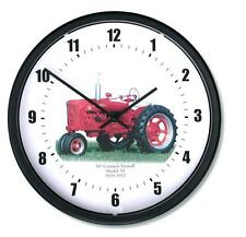 """New McCormick Farmall Wall Clock 10"""" Round 1939 - 1952 Vintage Model M Tractor"""