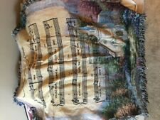 NWT  Manual Tapestry Throw Amazing Grace Song Church 50x 60