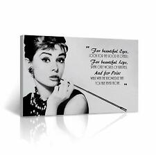 Home Decor Original Print Oil Painting On Canvas,Audrey Hepburn Quote Wall Art
