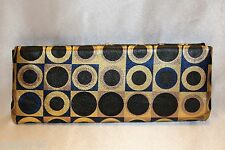 NEW! NWT! HOBO INTERNATIONAL Metallic Geometric Leather ADELYN Clutch Bag $148