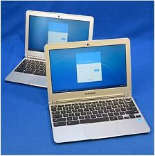 "Lot of 2 SAMSUNG 11.6"" Chromebooks - 1.7GHz CPU, 2GB RAM, 16GB Flash - XE303C12"