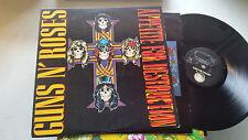 GUNS N' ROSES appetite for destruction banned image on inner LP '87 w/lyric rare