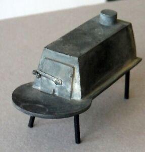 Vintage Dollhouse Miniature Metal Shaker Wood Stove Woodstove & Pipe P1039