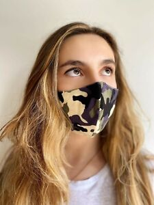 Camo face mask UK. Duel layer Cotton blend, free P&P,  fast dispatch
