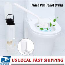 Toilet Trash Can Brush Cleaning Set Trash Can Bathroom Waste Storage Holder 3L