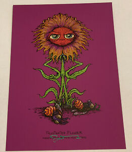 "Marq Spusta Frustrated Flower Purple Rubber Signed 5x7"" Print UV!"
