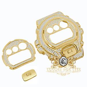 Face Plate + Bezel + G Button 3 Piece Combo Yellow Gold G-Shock DW-6900 Watch