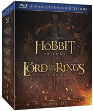 The Hobbit and The Lord of the Rings trilogy [extended cut] (Blu-ray) BRAND NEW