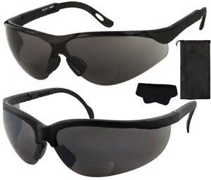 Tinted Bifocal Sports Sunglasses Golf Wraparound UV400 Pouch & Cloth Sun Readers