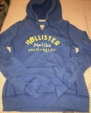 Hollister Women's Malibu Open - Relay Blue Hoodie - UK Size L