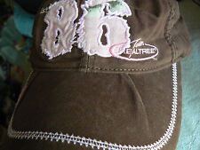 PARAMOUNT OUTDOORS 'REALTREE' BROWN CAP WITH PINK DECORATIONS INTERESTING DARTS