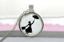 Halskette Mary Poppins Musical Silber Kette Anhänger Fantasy Cabochon
