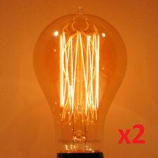 2-Pack LUMIN 30W A21 Edison Victorian Squirrel Cage Antique Light Bulb 120V/240V