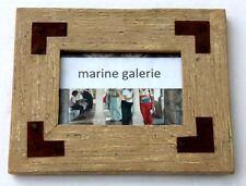 Cadre photo 10x15 décoration bois fer rouillé vintage sépia campagne , à poser