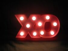 Hugs & Kisses XO Sign LED Light Up Marquee Battery Powered Letters NEW *MINT*