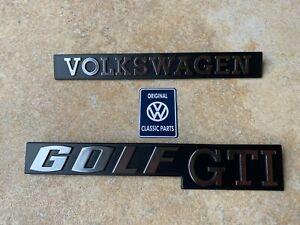 Mk1 Golf GTI Tintop Cabriolet Rear Badge Set NEW OEM 171853687K & 171853685A