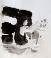 SCULPTRICE original art life drawing portrait woman direct from artist BELAUBRE
