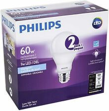 PHILIPS Led 9W = 60W A19 Daylight (5000K)-2 Pack