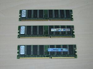 PQI DDR1 1,5GB (3 X 512MB) PC3200 DDR-400 184pin MDAD-421HA TEST OK!