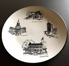 1967 Seyei Japan Fine China Illinois State Plate Grants Lincoln Capitol Chicago