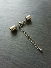 2 Sets Stainless Steel End Caps for 5.5mm to 6mm Cord with Clasps & Extender UK