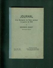Journal d 'ONU bourgeois de paris pendant la guerre 1915 par Georges Ohnet 1916