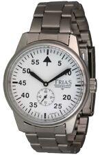 Trias Uhren Automatik Militäruhr mit weißem Zifferblatt Herrenuhr Fliegeruhr