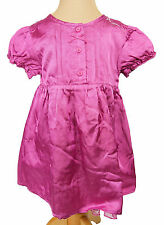 Mexx Kleid Satin Kurzarm pink Frühjahr Sommer Baby Kinder Mädchen Größe 74 Neu