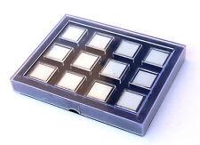 Astuccio scatola  pietre preziose diamanti espositore 12 scatoline