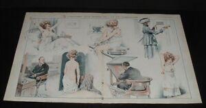 LQQK  vintage 1919 original RISQUE FRENCH ART from LA VIE PARISIENNE #30